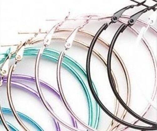Wholesale Lot 50mm Steel Punchy Color Hoop Earrings 24