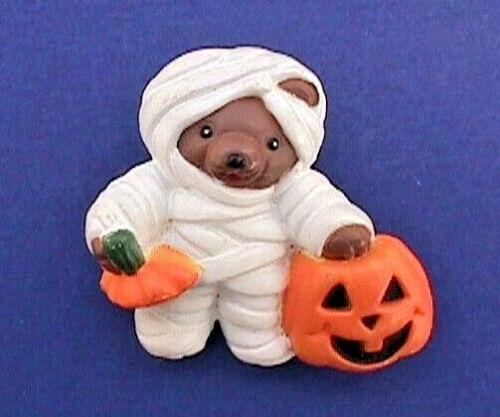 Easter Unlimited PIN Halloween Vintage MUMMY Teddy BEAR JOL PUMPKIN Brooch