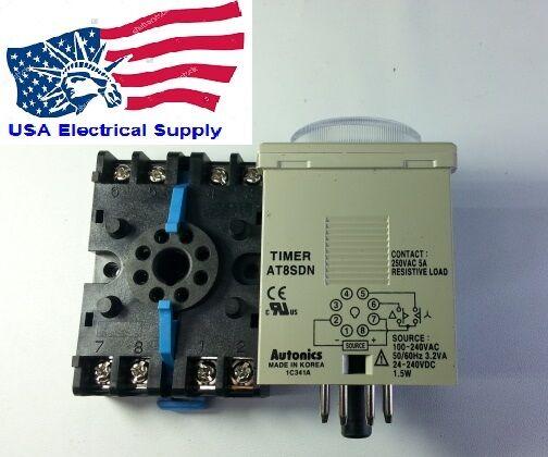 AT8SDN Autonics Analog Timer  With Socket Base PS-08