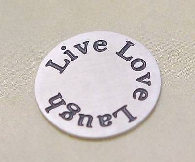 Floating Living Charm Window Stainless Steel Plate Memory Locket Live Love Laugh