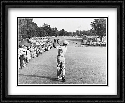 One Iron Ben Hogan 2x Matted 33x26 Large Gold or Black Framed Print by Peskin