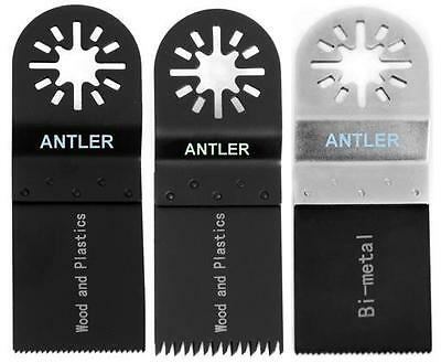 3 Antler Blade Combo A For Fein Multimaster Bosch Makita Oscillating Multitool