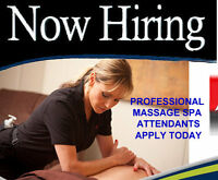 $18 - $21 Massage and Reflexology Spa Attendants Now Hiring