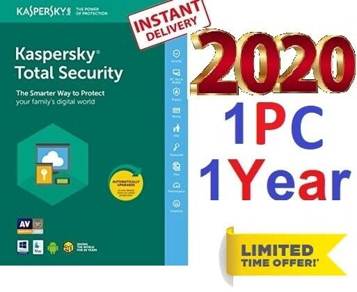 Antivirus KASPERSKY Total Security 2020 ⚡1 device 1 Year ⚡PC Download 6.49$ ?