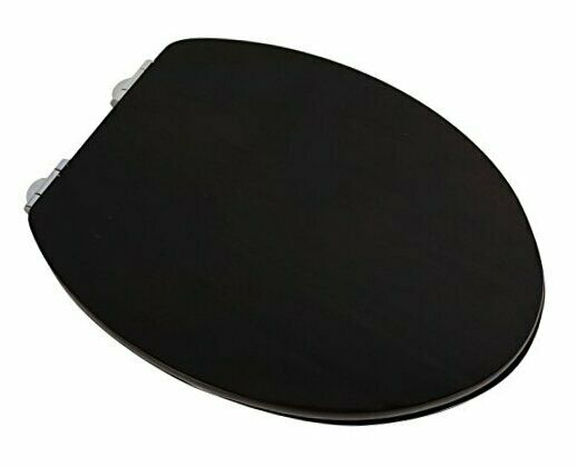 5F1E3-18CH Deluxe Wood Toilet Seat Stained Dark Brown ELONGATED