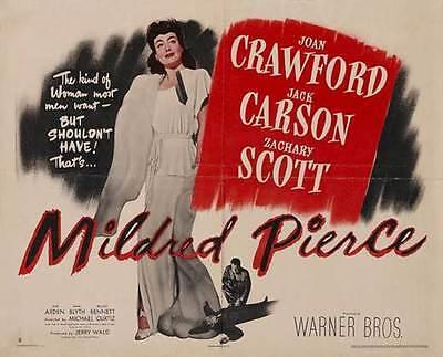 MILDRED PIERCE Movie POSTER 27x40 UK E Joan Crawford Jack Carson Zachary Scott