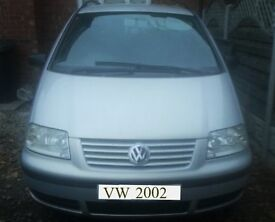 VW Sharan 1.9 tdi 115 bhp manual Low Millage 104000