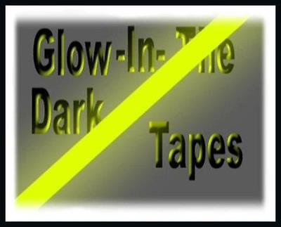 3 GLOW IN THE DARK NEON YELLOW STRIPS STICKERS REFLECTIVE FLUORESCENT HIGH VIS