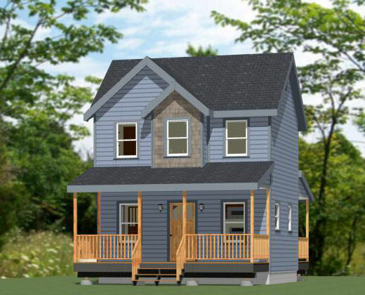 20x16 Tiny House -- PDF Floor Plan -- 599 sq ft -- Model 9A