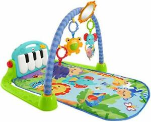 Fisher Price Infant Kick Play Piano Gym Blue Great Condition