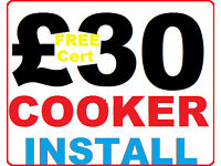 £30 Gas Cooker Installation Certificate - Birmingham solihull registered engineer corgi installer