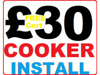 ^*^ £29.99 ^*^ COOKER INSTALLATION+CERTIFICATE -NO CALLOUT FEE/HIDDEN COSTS gas electric corgi -