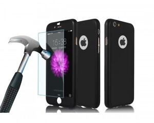 Iphone 6s/7, 360-degree protection case with tempered glass.