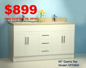 9 Years' Bathroom Store: Vanities/Bathtubs/Showers/Toilets