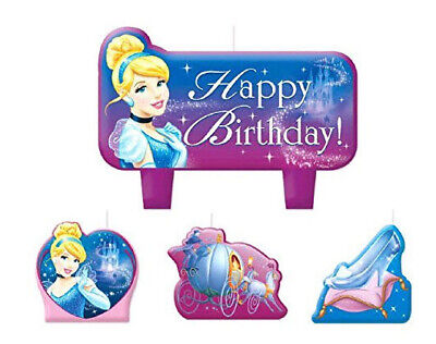Disney PRINCESS CINDERELLA Birthday party molded cake CANDLES supplies - Cinderella Birthday Supplies