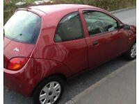 Ford Ka 2003 plate maroon red