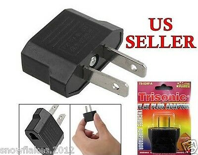 European EU 220V  to 110V Travel Flat Plug Charger Adapter Convert