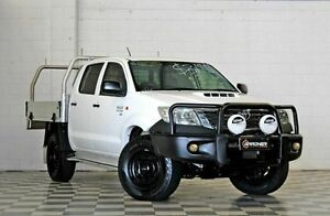 2012 Toyota Hilux KUN26R SR White 5 Speed Manual Dual Cab Burleigh Heads Gold Coast South Preview