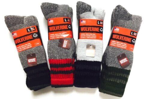 Wolverine Merino Wool Blend Boot Socks 4 pair