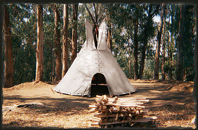 Photo 12` CHEYENNE STYLE tipi/teepee, Door flap & carry bag