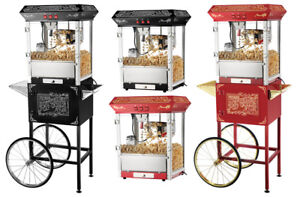 NEW GREAT NORTHERN OLD TIME POPCORN POPPERS  COUNTER TOP & CART