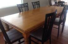 Pine Dining Room Table with 8 Chairs Highfields Toowoomba Surrounds Preview