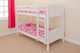 Wooden Robin White Bunk Bed