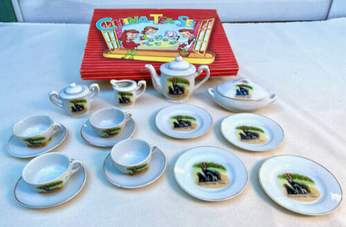 Vintage children's China (ceramic) Tea Set - Yellowstone Park Bears design