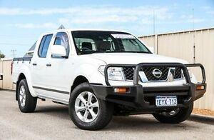 2012 Nissan Navara D40 S7 MY12 RX White 6 Speed Manual Utility Wangara Wanneroo Area Preview