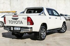 2016 Toyota Hilux GUN126R SR5 Double Cab White 6 Speed Sports Automatic Utility Willetton Canning Area Preview
