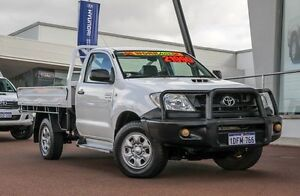 2009 Toyota Hilux KUN26R MY09 SR White 5 Speed Manual Cab Chassis Wangara Wanneroo Area Preview