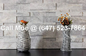 Valencia Grey Marble 3D Wall Cladding Fireplace Stone Veneers 3D