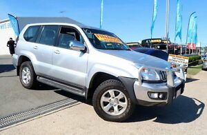 2004 Toyota Landcruiser Prado GRJ120R GXL Silver 5 Speed Automatic Wagon Woodridge Logan Area Preview