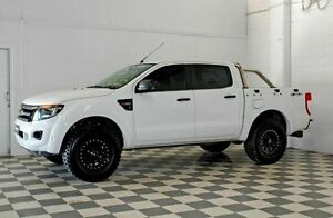 2012 Ford Ranger PX HI-RIDER White 6 Speed Manual Dual Cab Burleigh Heads Gold Coast South Preview