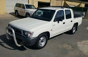 2000 Toyota Hilux RZN149R RZN149R White 5 Speed Manual Dual Cab Pick-up Burleigh Heads Gold Coast South Preview