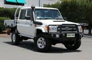 2016 Toyota Landcruiser VDJ79R GXL Double Cab White 5 Speed Manual Cab Chassis Acacia Ridge Brisbane South West Preview