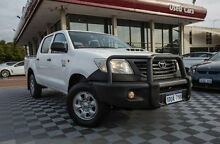 2011 Toyota Hilux KUN26R MY12 Workmate Double Cab White 5 Speed Manual Utility Alfred Cove Melville Area Preview