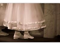 First holy communion dress age 8 years with jacket and belt