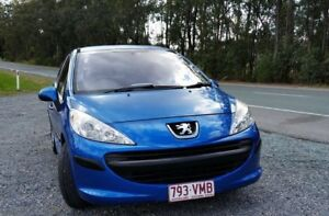 2007 Peugeot 207 A7 XT Blue 4 Speed Sports Automatic Hatchback Stapylton Gold Coast North Preview