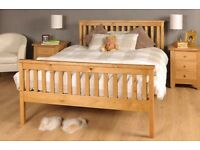 Wood Pine Double Bed