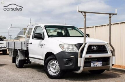 2009 Toyota Hilux TGN16R MY10 Workmate White 5 Speed Manual Cab Chassis