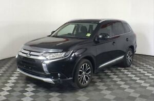 2016 Mitsubishi Outlander Black Constant Variable Wagon Hoppers Crossing Wyndham Area Preview
