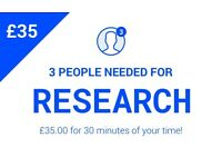 £35 for 30 minutes of your time