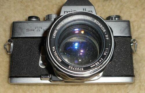 Minolta SRT 101 35mm SLR Film with Minolta 58mm lens