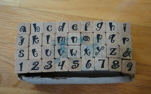 Scrapbooking Rubber Stamps Alphabets and Number Set London Ontario image 1