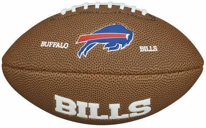 Wilson American Logo Football Buffalo Bills NFL Mini Size Rubber Fan Ball