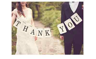 Engagement Photo Props (Thank you Banner Wedding Engagement Party Banner Photo Booth Prop)