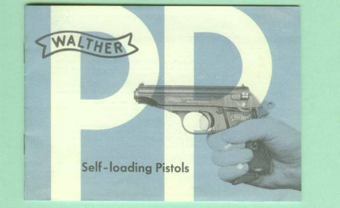 Walther Model PP PPK PP Sport Owners Manual Reproduction