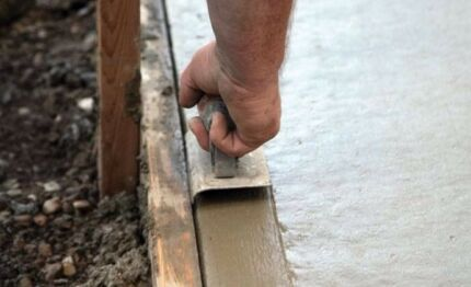 Small concrete jobs paths patios shed slabs