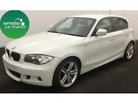 £206.10 PER MONTH WHITE 2011 BMW 118D 2.0 M SPORT 5 DOOR DIESEL MANUAL